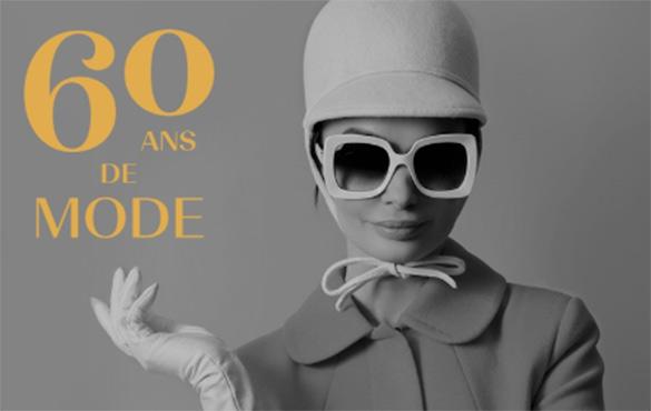image primaire de 60 ans de mode: l'installation parcourant 6 décennies!